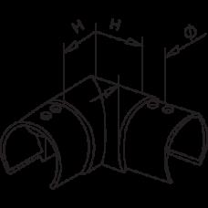 90 Degree Elbow Horizontal Diagram