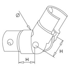Adjustable Slotted Elbow Diagram