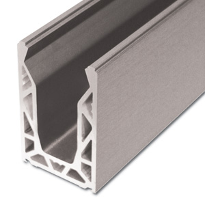 Aluminium Channel With Top Bead And Wedges (price for and sold in 3 meter lengths)