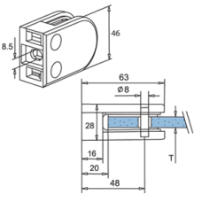 Flat Glass Bracket Diagram