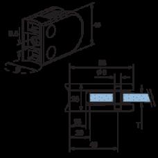 Round Glass Bracket Diagram