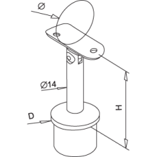 Stand Off Articulated Rail Support Diagram