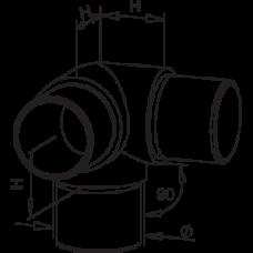 Three Way Elbow Diagram